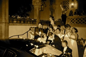 Grand exit. Athenaeum Wedding, Pasadena, CA.