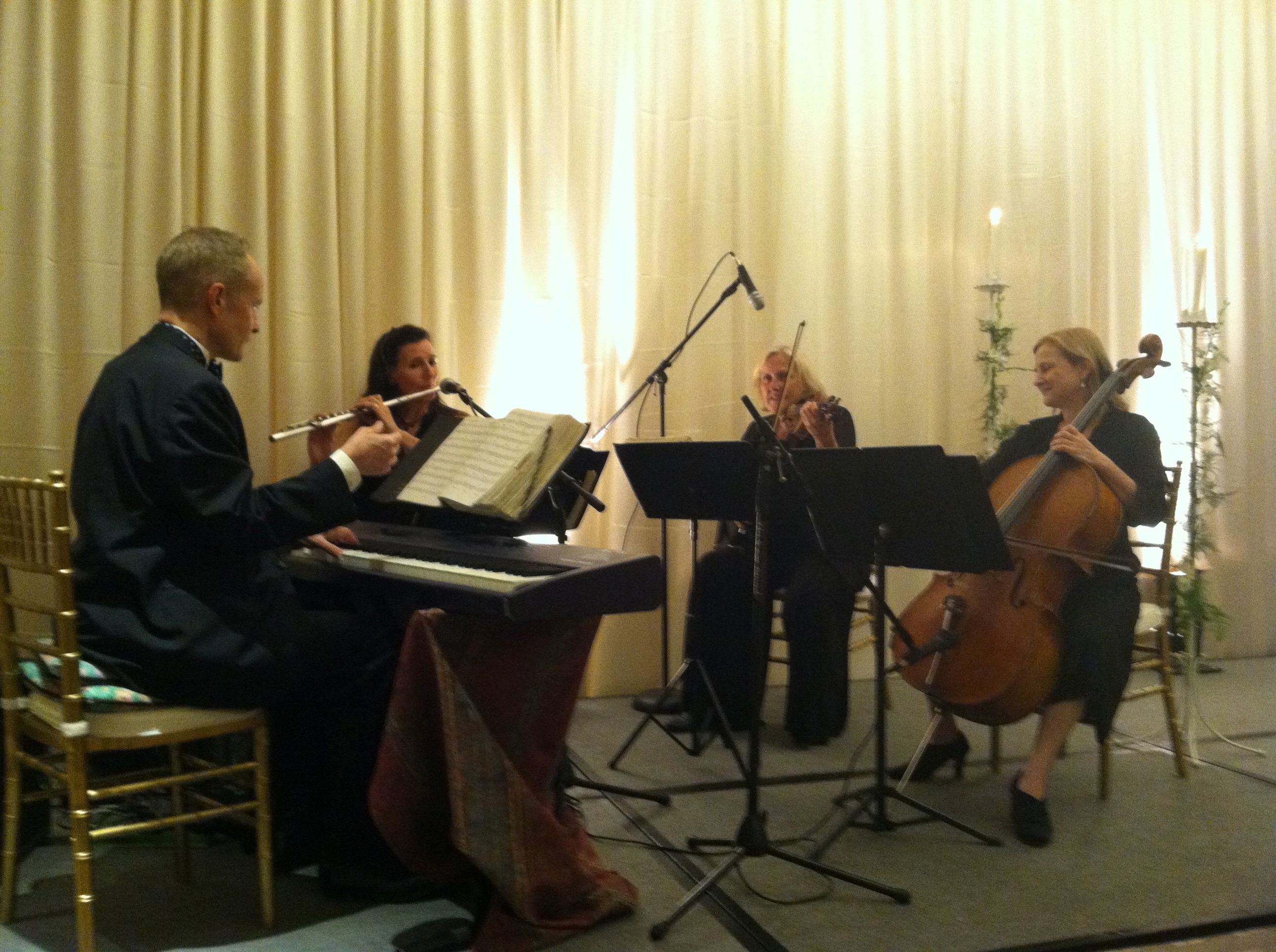 Elegant Music Quartet Wedding