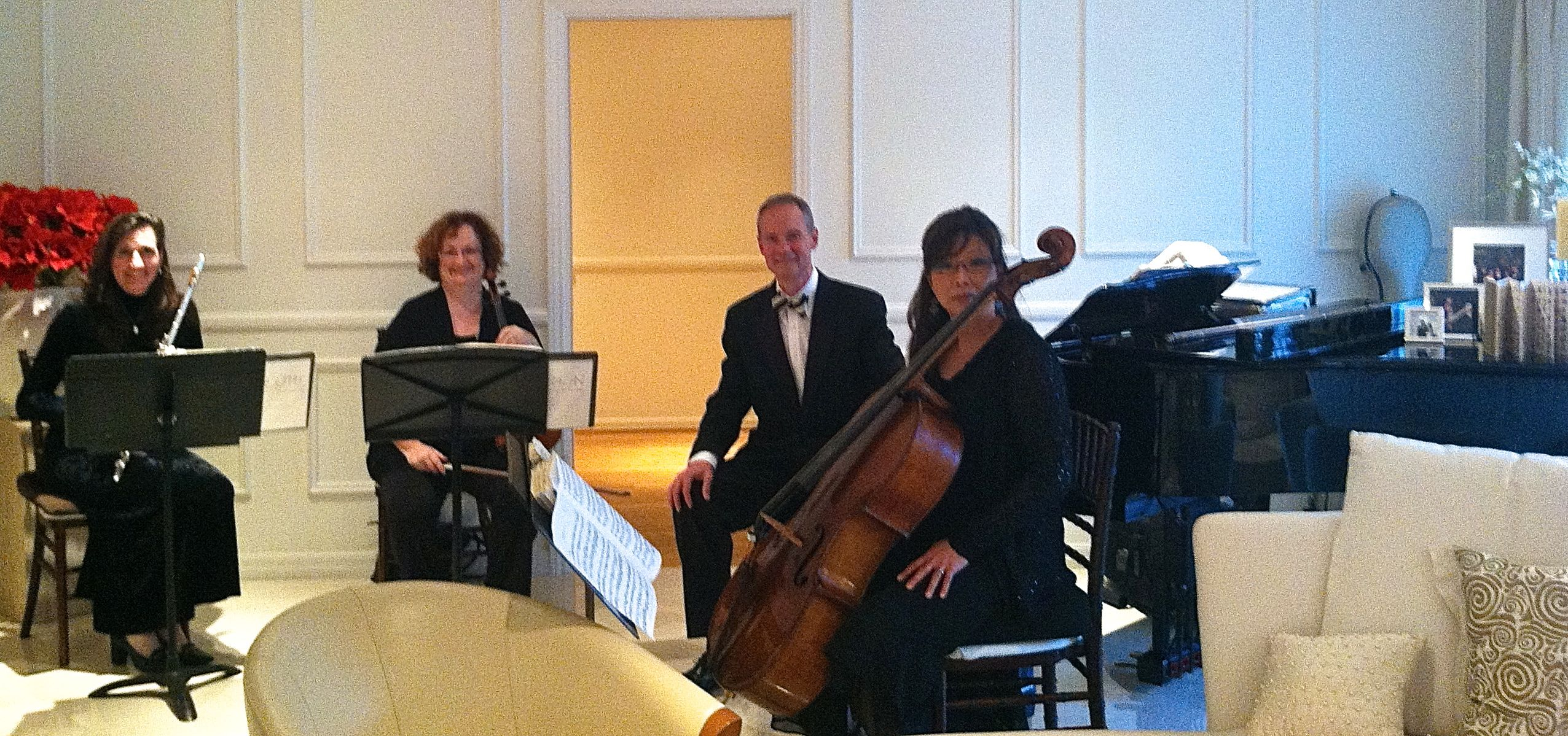 Elegant Music Quartet South Pasadena Home Dinner Party
