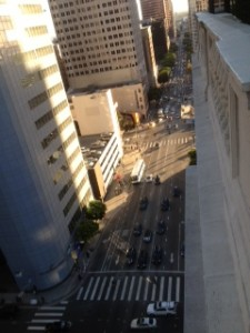 Roof Top of the Jonathan Club looking downtown Figueroa Street