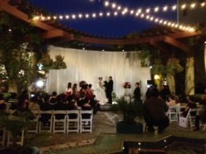 Wedding Ceremony @ Noor Restaurant Pasadena CA