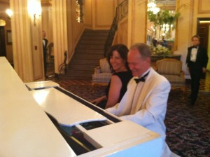 Pianist Eric Zimmermann with Party Host