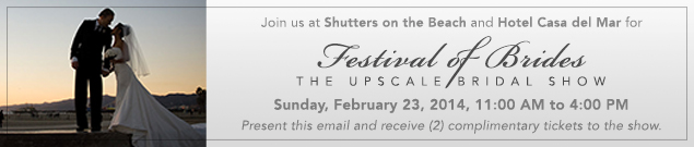 Complimentary Festival of Brides Bridal Show Ticket for 2