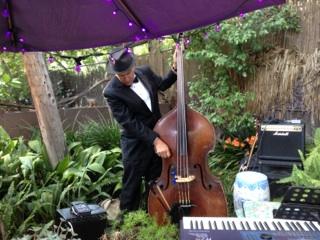String Bass Player Jim Garafalo with the Elegant Music Jazz Trio