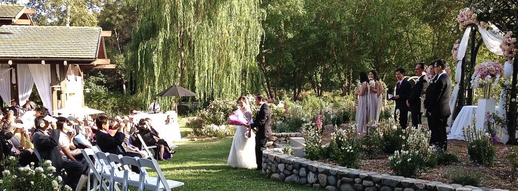 Wedding Ceremony @ Descanso Gardens Coordination by Aquafuzion