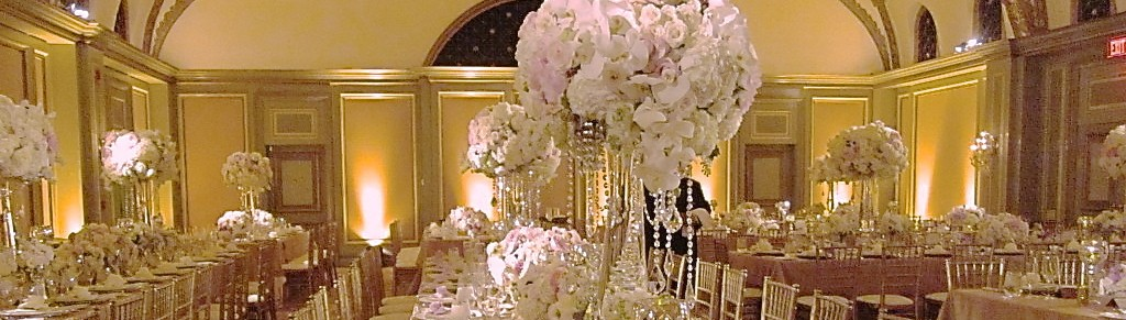 Viennese Ballroom Langham Huntington Hotel Pasadena. Wedding design by Aquafuzion.