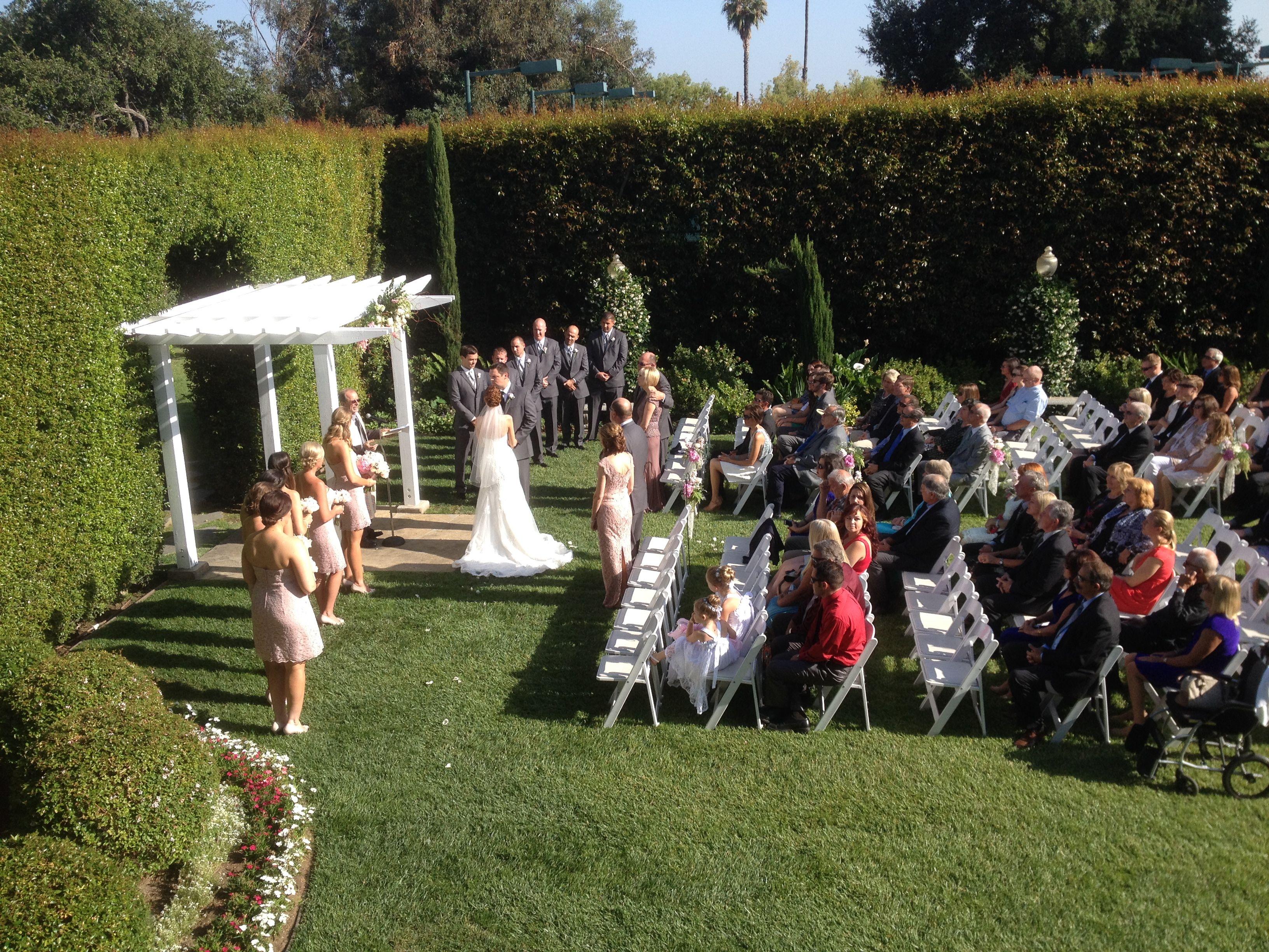 Altadena Wedding Ceremony Picture From The Balcony