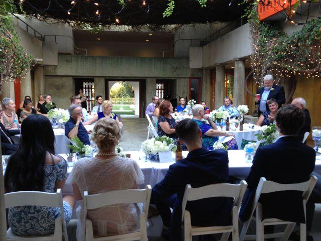 Wedding Reception Clarke Estate Courtyard