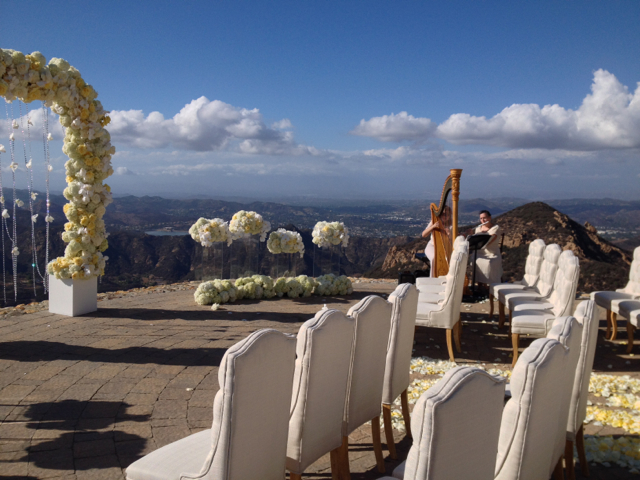 Flute and Harp Wedding Music @ Rocky Oaks Estates Malibu