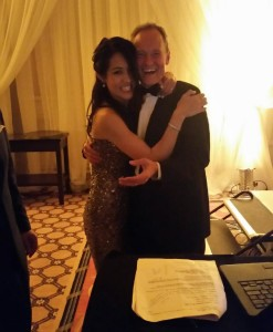 DJ Eric Zimmermann and the new Mrs. Betsy Nay!