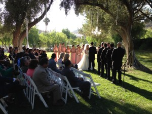 Wedding Ceremony @ The Oak Grove @ Hummingbird's Nest Ranch