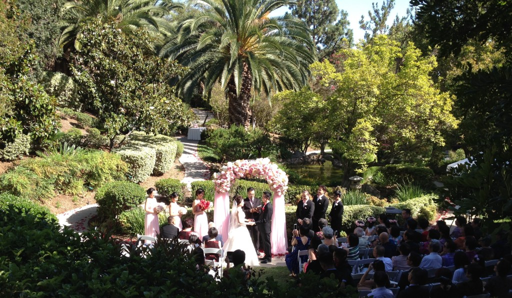 Wedding Ceremony @ Japanese Garden Langham Hotel Pasadena