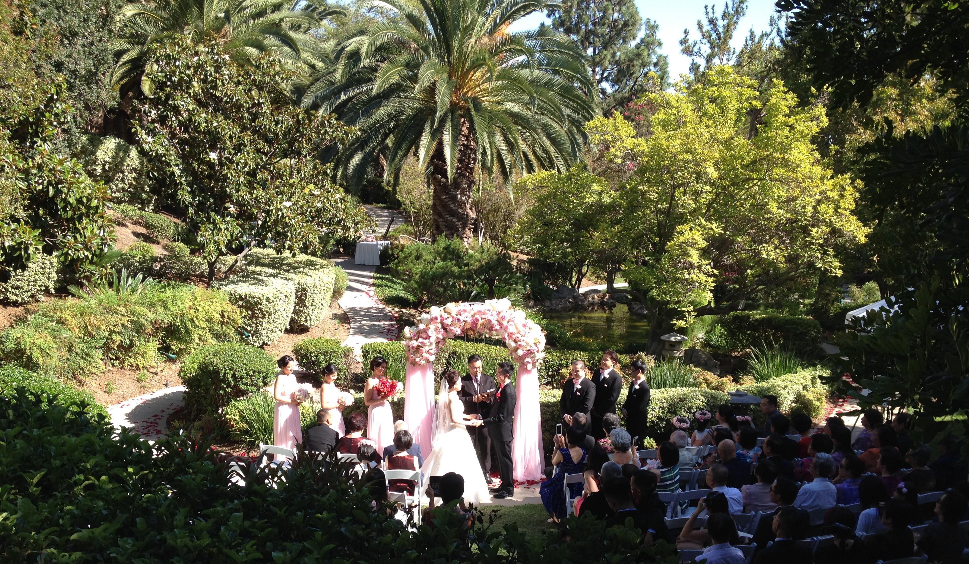 Langham Wedding Japanese Garden Ceremony Elegant
