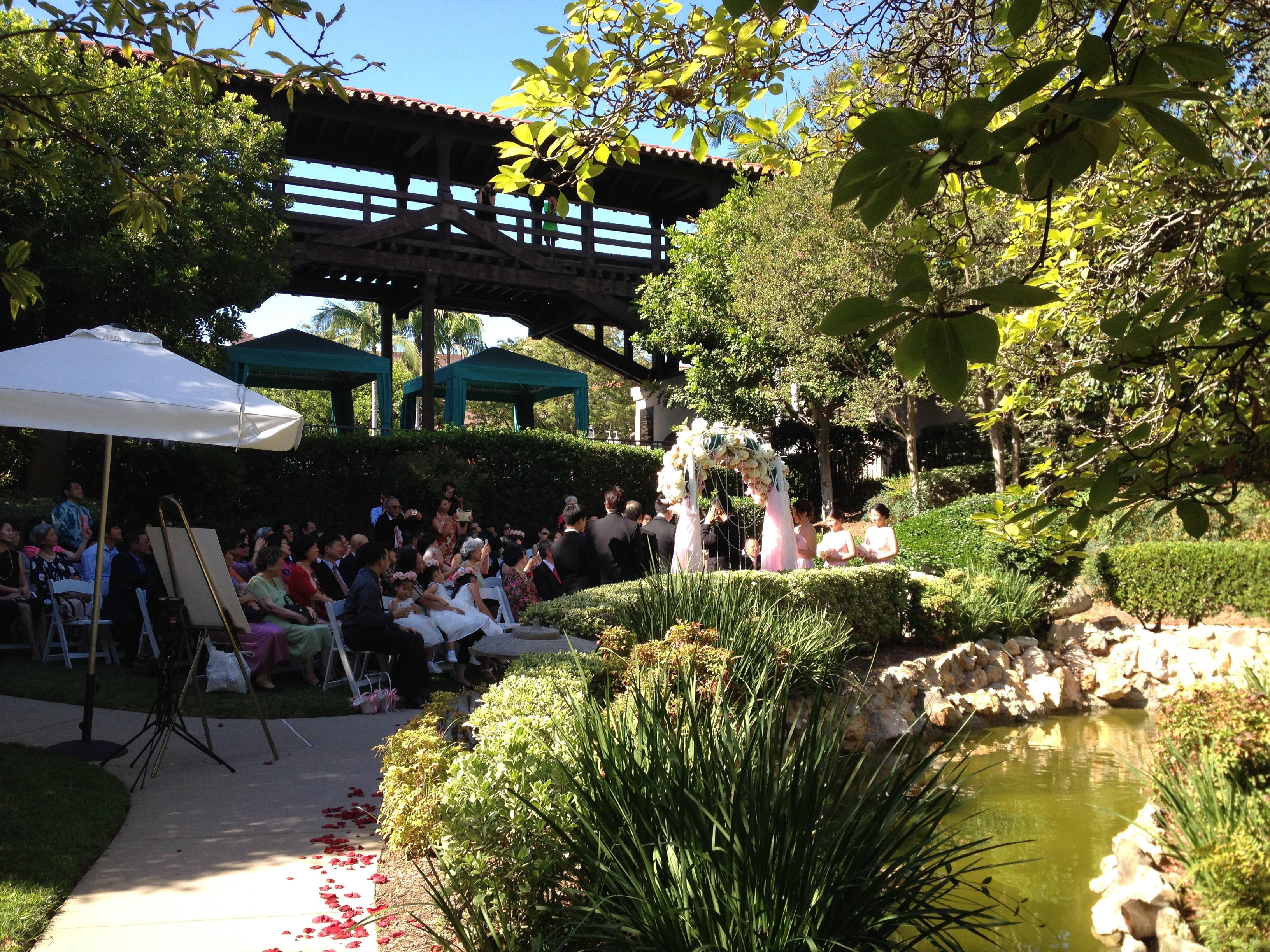 Japanese garden pasadena wedding