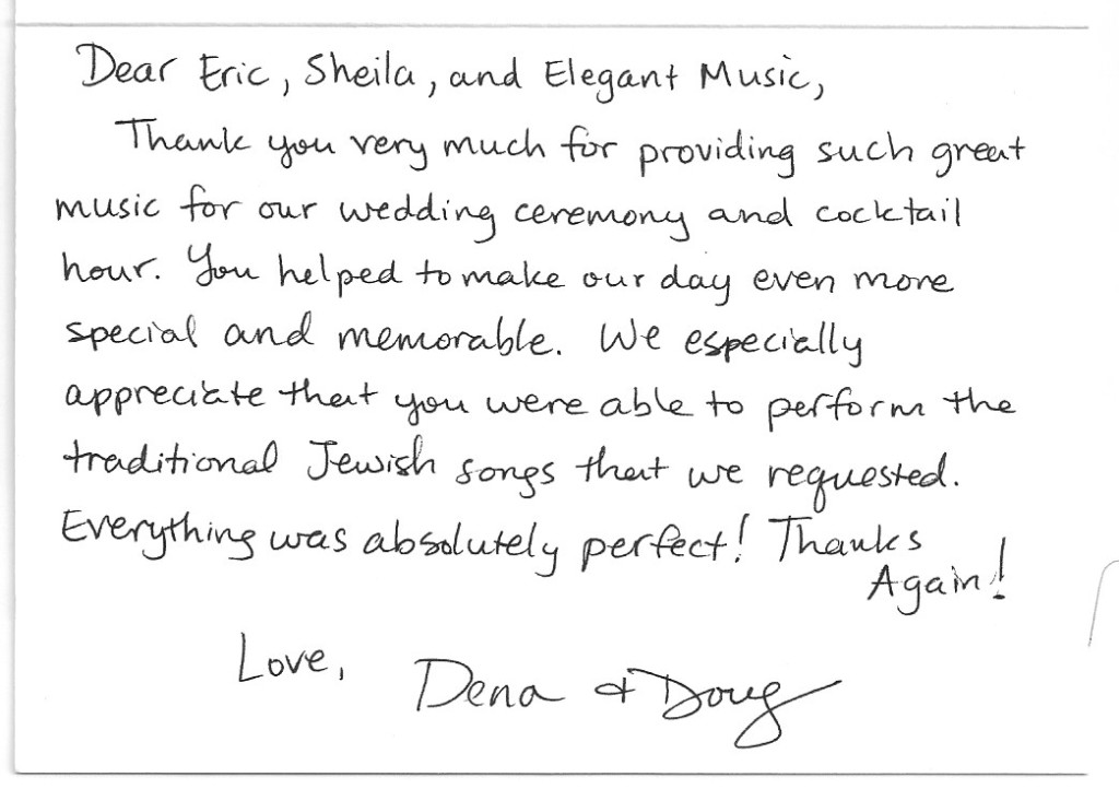 "Dena and Doug ""Thank You"" Card Picture"