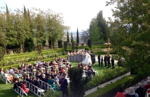Wedding Ceremony, Formal Garden @ Greystone Mansion Beverly Hills, CA