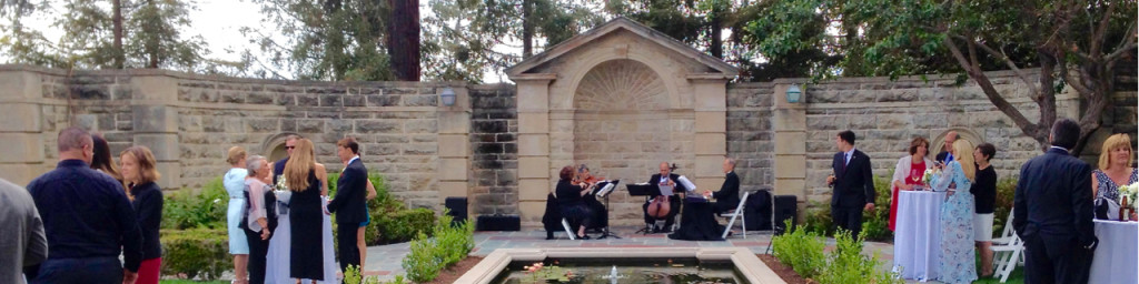 Listeners diggin' the Elegant Music Quartet. Cocktail Hour @ Greystone Mansion