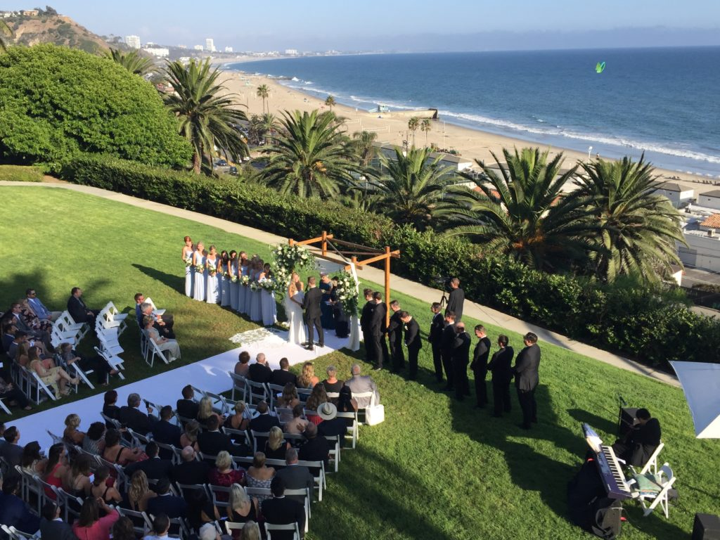 Wedding Ceremony @ Bel-Air Bay Club. Elegant Music 626-797-1795