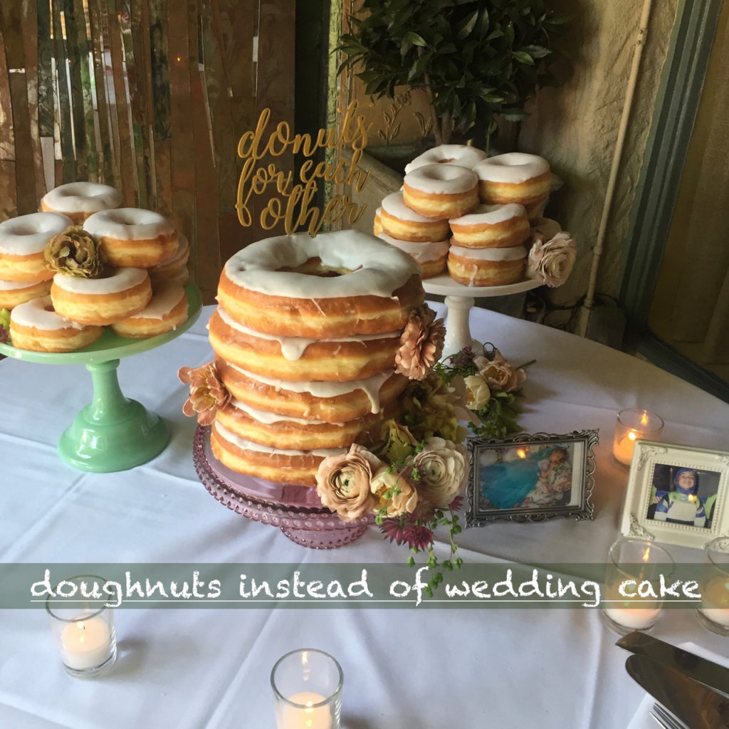 doughnuts instead of wedding cake